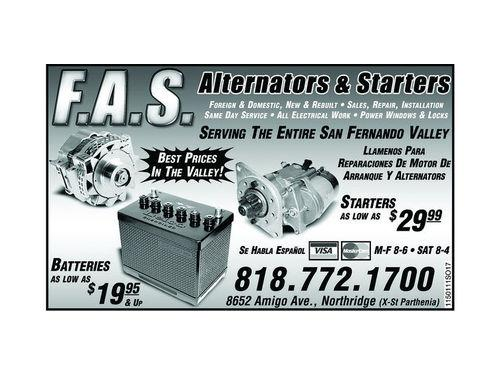 F.A.S. ALTERNATORS AND STARTERS - Los Angeles