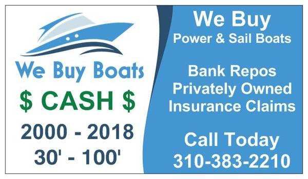 We Buy Boats 2000 or Newer - Los Angeles