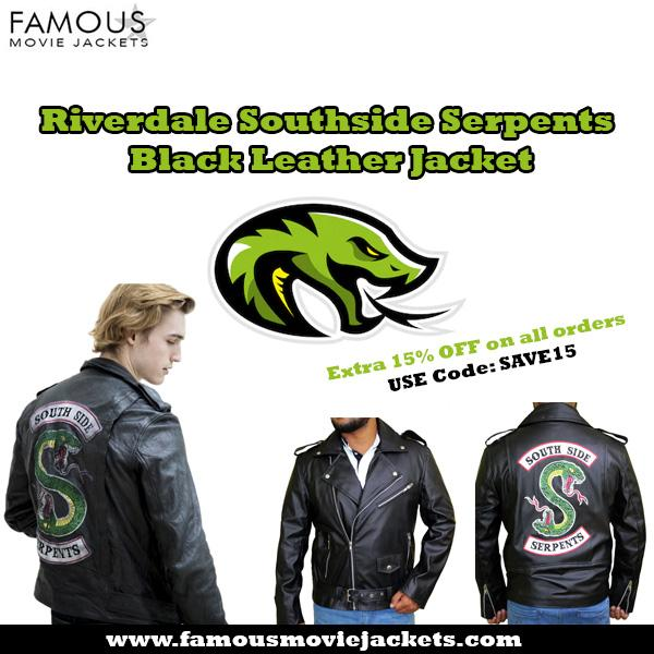 Riverdale Southside Serpents Black Leather Jacket - Los Angeles